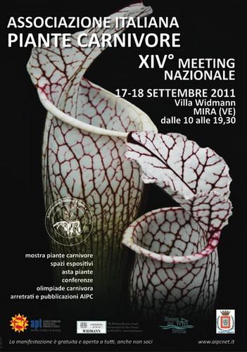 piante carnivore; locandina convegno 2011