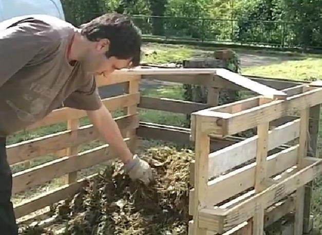 compostiera con compost