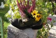 ecosostenibilità scarpone con fiori