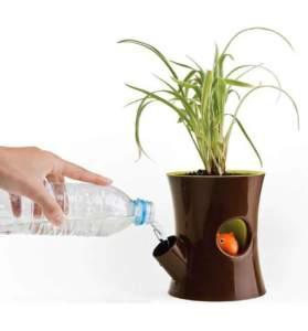 annaffiare le piante vaso a riserva d'acqua