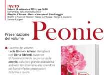 Peonie locandina presentazione volume a Giardini d'Autore 2021